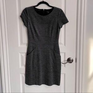 THEORY grey short sleeve dress
